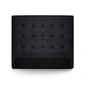 Menzzo HB140 Contemporain Luxor Tête de Lit Bois Noir 8 x 150 x 122 cm