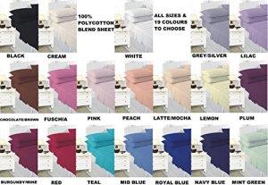 Comfy Nights Drap-housse extra profond 40cm en percale polyester et coton facile d'entretien, Burgundy/Wine, Pillow Pair