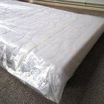 Housse De Protection Matelas Twin Premium pour matelas 140cm de large avec fermeture adhésive – EXTRA solide 80µ, EXTRA long 250cm