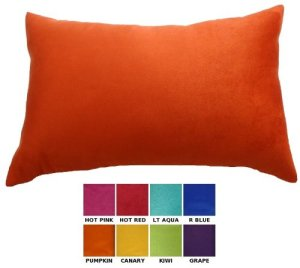 Dreamhome–Taie d'oreiller lombaire, bord décoratif, cuir synthétique 12×18 Citrouille
