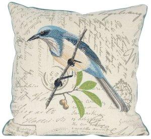 Manor Luxe Collection Aviaire garni de plumes/duvet Oreiller décoratif Oreiller, Blue Bird, 45,7cm par 45,7cm