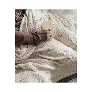 Blanket Couleur Unie Couverture en Tricot Laine Couverture Bureau climatisation climatisation Pause déjeuner Couverture châle Couverture canapé Loisirs Couverture Couverture