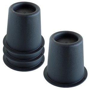 Hestec 25271 Lot 4 Pieds Élévateurs de Lit Plastique Noir 16 x 16 x 16 cm
