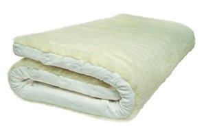 Natura Latex Woolly Top en latex Décoration pour, Coton, blanc, Jumeau