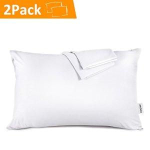 Taie d'Oreiller 50x70cm – Adoric [Lot de 2]Taies d'Oreillers en 100% Coton Super Doux Confortable 50cmx70cm (Blanc)