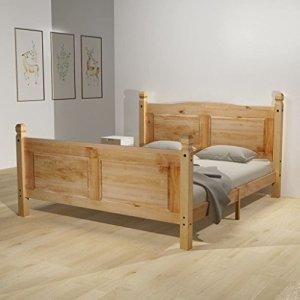 WEILANDEAL lit avec Matelas Mexican Pine Couronne 140x 200cm Lits maintient Le Style Mexicain de Meubles 'Couronne'