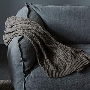 Blanket 100% Coton Couverture Simple Coton Ligne Couverture Laine tricoté canapé Couverture Sieste (Color : Color 2, Taille : 51.18 * 62.99)