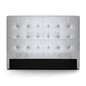 INTENSEDECO Intense Déco–Tête de lit capitonnée Premium 160cm Argent