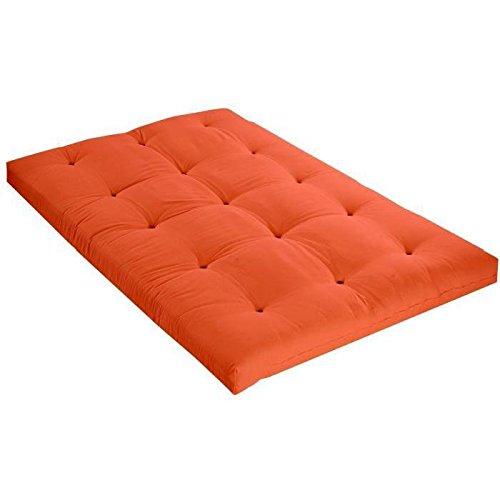 Matelas futon 140×190 goyave – 5 couches de ouate 1300g/m² – Equilibré et ferme