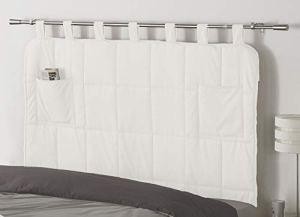 COSI INTERIEURS Tête de lit LECTIVE 160 x 90 matelassée Blanche