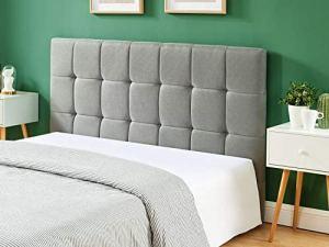 HOMIFAB Tête de lit Gris Clair 160cm – Collection Willy