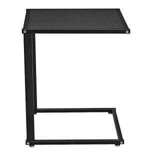 Generic en Bois Noir Support Lit ER Lit côté des Moderne Canapé Snack Moderne côté Table de Bureau Table Genoux pour Ordinateur Portable K Table Genoux en métal Base en Bois Noir