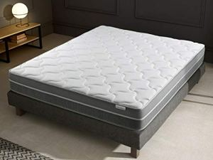 Ensemble Matelas mémoire de Forme + sommier 160×200 Hotel Confort Hbedding – 7 Zones de Confort – épaisseur Matelas 25cm