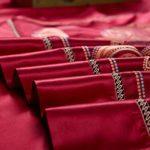 YIEBAI, Housses de couette Ensembles de literie en jacquard teint en fil de soie naturel de luxe Mulberry Ensembles Fermeture à glissière cachée comme un beau cadeau King Size, Royal Red