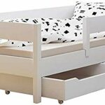 Foyer pour enfants Lit double classique, avec des tiroirs et des matelas,A-200×90
