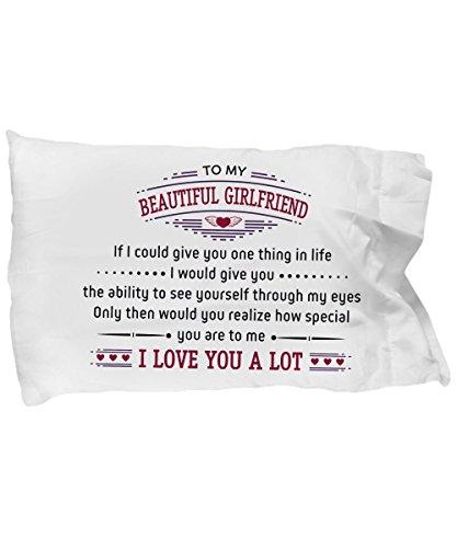 Head Master Cups Petite Amie Gifts Taie d'oreiller–to My Beautiful Girlfriend I Love You Beaucoup Cadeaux d'anniversaire, Cadeaux de Surprenant au Son