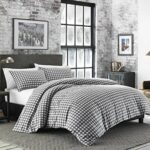 Eddie Bauer Preston Comforter Set, Full/Queen, Gris foncé, Gris foncé, Full/Queen