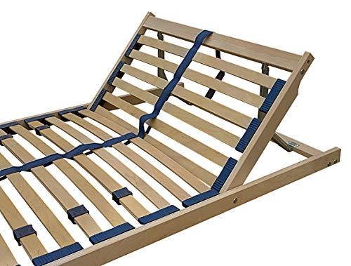 Erst-Holz Sommier à Lattes Flexibles 120 x 200 cm, Zone de la tête réglable 70.32-12FV