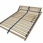 Erst-Holz Sommier à Lattes Flexibles 90 x 190 cm, Zone de la tête réglable 70.32-09-190FV