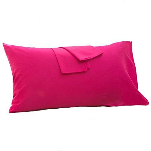 HOMDO Lot de 2 Taie Oreillers en 100% Coton, Machine Housse d'oreiller Confortable Protège Oreiller Violet 40 * 60cm