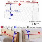 Housse de Protection de tête de lit Extensible Housse pour tête de lit Anti-poussière Solide Couvre de tête de lit Décoration (Color : E, Size : 150cm(59″))