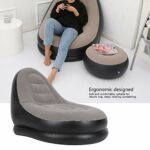 Canapé Paresseux, améliorez Le Confort Canapé à la Maison Facile à Utiliser avec Un Repose-Pieds pour Bronzer pour Le Salon