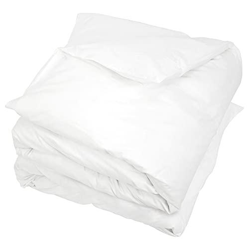 Linnea Housse de Couette uni 300×300 cm 100% Coton Alto Blanc