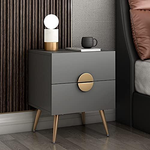 SUNTAOWAN Italien Minimaliste Table de Chevet Chambre à Coucher Petit Appartement Nordic Light Style de Luxe Simple Post-Moderne Storage Ca (Color : Transparent, Size : Assembly)