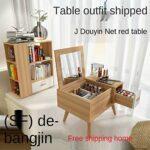 SUNTAOWAN Table de Table créative Miroir Table de Coiffeuse Simple Chambre Moderne Tableau de Nuit Tableau de Maquillage (Color : Light Gray)