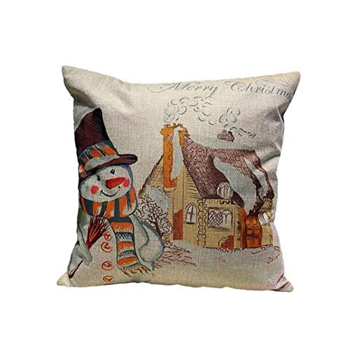 18×18 Pouces Creative Noël Theme Theme Boîtier Taie d'oreiller Accueil Décor Christmas Snowman Style Taie d'oreiller de Noël