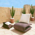 Coussins Canape 80×80 Lot de 2 Oreillers Decoratif Accessoires pour Sofa et Lit Decoration Aesthetic pour Salon et Exterieur Antiallergiques et Anti-Acariens avec Taie d'oreiller en Coton et Polyest.