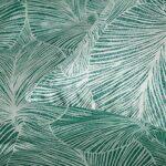 Parure Housse de Couette Feuilles Tropicales, 1 x Housse de Couette 200×200 cm 2 Personnes et 2 x Taies d'oreiller 51×66 cm, Linge de Lit avec Fermeture Eclaire Vert