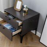YY Table de chevet en fer forgé minimaliste Chambre à coucher Simple Moderne Nordic Ins Style Petit Appartement Personnalité Creative Matte (Color : White)
