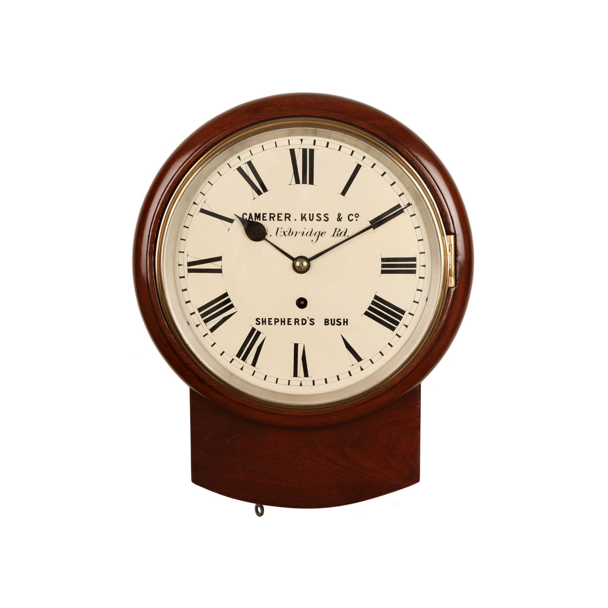 Small 8 Fusee Drop Dial Wall Clock The Clock Work Shop