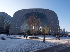 Markthal Rotterdam on a sunny winter day