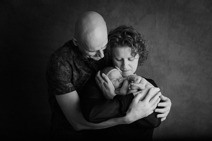 Parents with newborn photography