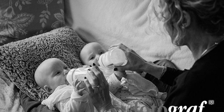 Twins photography at home