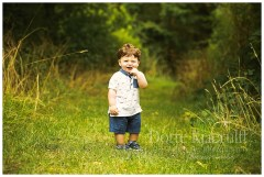 Outside baby photography