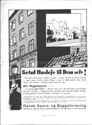 Se annonce for foreningen Dansk Spare- og Byggeforening