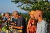 Middag med udsigt til havet.