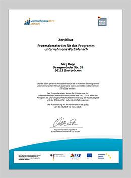 zertifikat unternehmenswert:mensch