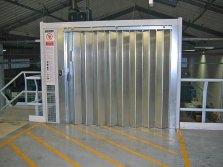 Mezzanine landing door