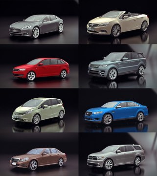 DOSCH DESIGN   DOSCH 3D  Cars 2014 15 very detailed and completely textured 3D models of highly realistic cars