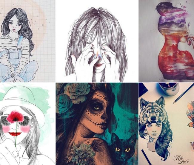 ilustrações-quadro-meninas