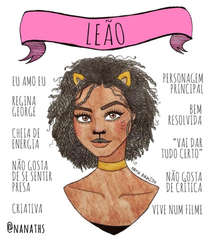 ilustração-signo-leão