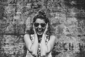 Garota sorrindo