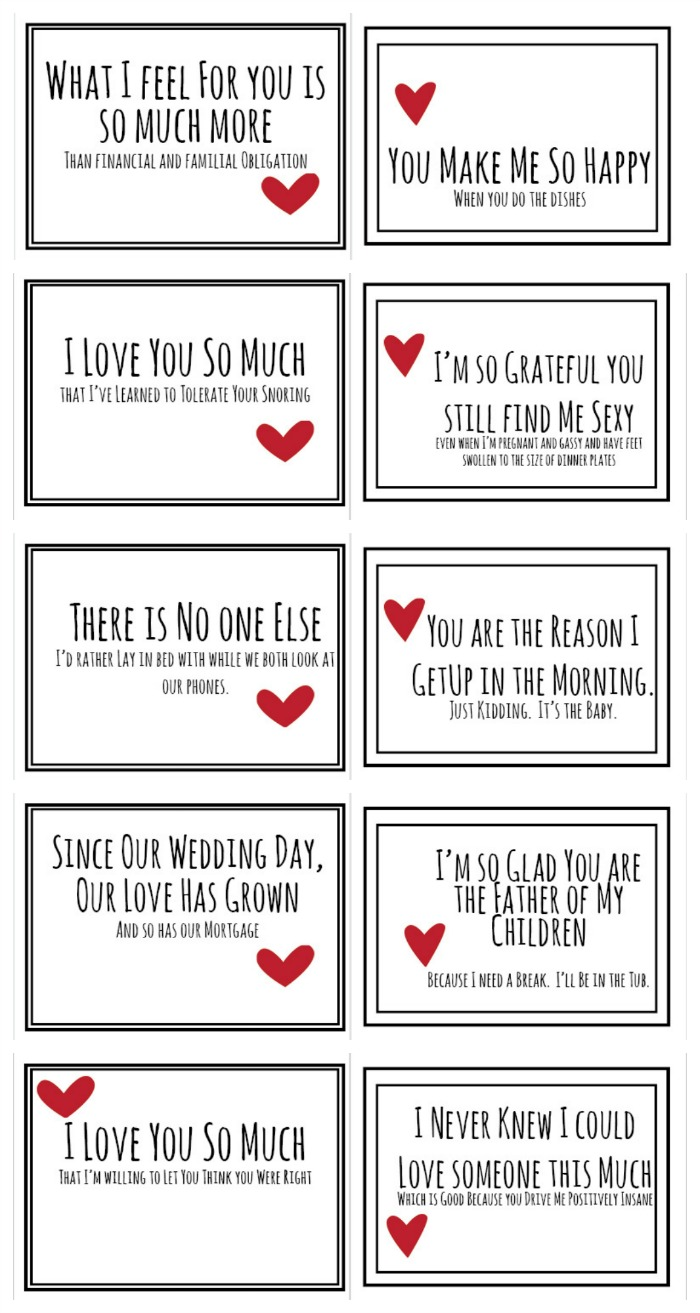 Realist Valentines For Your Husband Free PDF Do Small