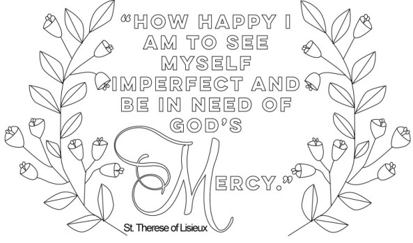 Image result for st. therese of lisieux coloring pages