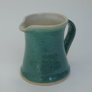 Tall pottery jug