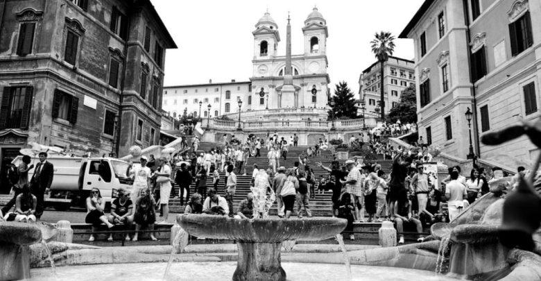 Španskih stopnicah, Rim, Italija, globa, kazen, Španske stopnice,